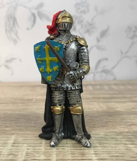 Armoured Knight Figurine with Flail & Shield